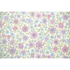 Vintage Wallpaper by the Yard 60s Retro Wallpaper 1960s Pink Blue and... ❤ liked on Polyvore featuring home, home decor, wallpaper, floral pattern wallpaper, light purple wallpaper, flower pattern wallpaper, flowered wallpaper and floral wallpaper