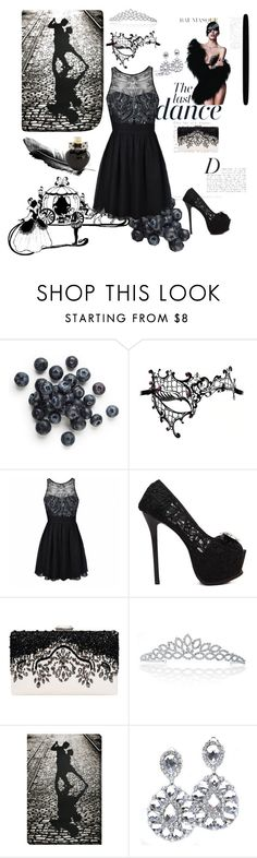 """""""Masked Ball"""" by clariworld ❤ liked on Polyvore featuring Anja, Maschera, Ally Fashion, Bling Jewelry, Aéropostale, black, dance, cinderella and mask"""