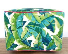 large tropical pouf - best etsy shops for home decor