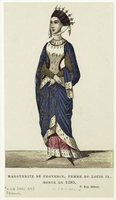 Marguerite de Provence, femme de Louis IX, morte en 1285.