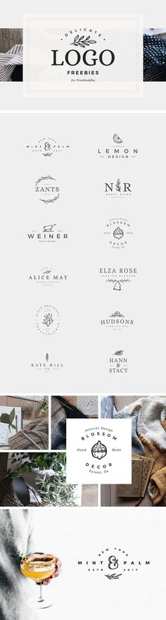 Set Of 12 Feminine Logo Design Friends! If you're in need of a sophisticated and feminine logo, then don't miss this set of 12 Feminine Logo Designs. A combination of meticulously crafted vector motives and beautiful typefaces, these logos are perfect for Inspiration Logo Design, Toys Logo, Free Logo Templates, Florist Logo, Stationary Design, Clothing Logo, Layout, Store Design, Buddha