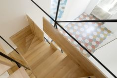 Francesco Librizzi's oak-and-steel staircase is as much a sculpture as it is a means of going between floors.