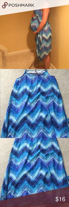 Ma Cherie maternity dress medium Excellent condition worn twice ma cherie maternity hankerchief hem dress. Has tie to tie above bump or could wear without.  Size medium ma cherie Dresses