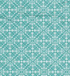 Aqua Scroll Printed Cotton Sewing Fabric, Quilting Material End of Bolt 0.75 Yard by LaCreekBlue on Etsy