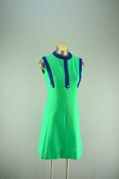 1960s sheath dress / vintage mod dress / 60s 2 piece by melsvanity, $56.00