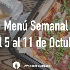 Menú Semanal del 19 a 25 de Octubre con Recetas | Recetas de Cocina Casera - Recetas fáciles y sencillas