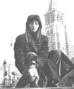 Juliette Greco,a French actress and popular... - Famous People Loving Dachshunds