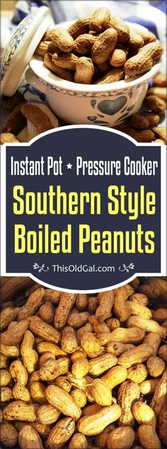 Pressure Cooker Southern Style Boiled Peanuts make a wonderful snack. They are soft, like a bean and salty like tears of joy! via @thisoldgalcooks