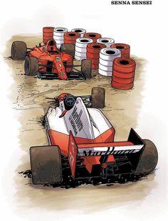 Uma obra claramente de fãs para fãs - em parceria com o instituto Ayrton Senna - a HQ passa em grande parte longe das polêmicas, mas mostra como a agressividade do piloto brasileiro nas ultrapassagens incomodava os demais corredores, como com a famosa batida em Prost em alta velocidade 1990 no GP do Japão
