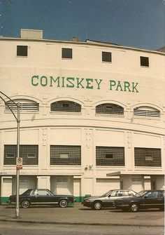 Chicago's original Comiskey Park Stadium on West 35th Street. ( Demolished / Replaced with new stadium across the street.) Chicago Illinois circa late 1980's. Dennis Madia photograph. by Eddie from Chicago, via Flickr