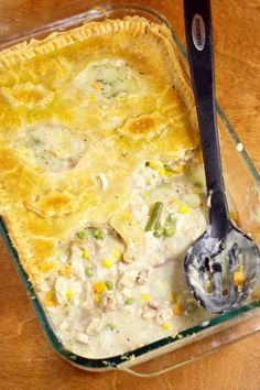 Homemade Chicken Pot Pie Casserole Recipe - A chicken dinner casserole baked in your oven. Truly delicious! One of our family favorites! Learn how to make the PERFECT Chicken Pot Pie from start to finish!