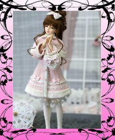Angell Studio CL10122120 AS Kid 1/4 MSD Pink Winter Lolita outfit for BJD