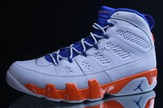 ebd06654dfa Fontay Montana Young Air Jordan IX Boys Shoe Glacier White Royal Blue  Orange Air Jordan 3