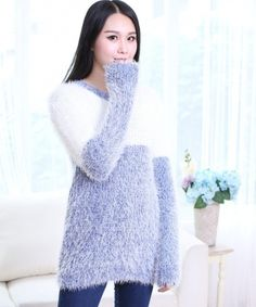 EC03058 Pullover large yard knitted loose sweater for women