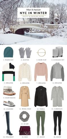 What to Pack for New York in Winter - https://shershegoes.com/what-to-pack-for-new-york-city-winter/