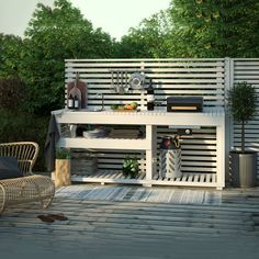 Kitchen models: 60 ideas for all styles - Home Fashion Trend Outdoor Bbq Kitchen, Patio Kitchen, Outdoor Oven, Outdoor Kitchen Design, Outdoor Cooking, Backyard Patio Designs, Yard Design, Outdoor Spaces, Outdoor Living
