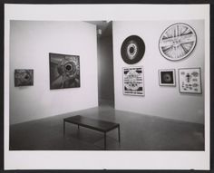Installation view of Lee Bontecou works in the Americans 1963 exhibition at the Museum of Modern Art, 1963 / Eric Pollitzer, photographer. Leo Castelli Gallery records, Archives of American Art, Smithsonian Institution.