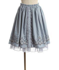 メルヘンカラー刺繍入りスカート