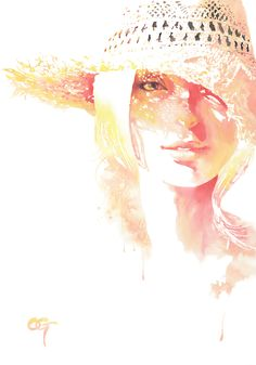 watercolor #画 #墨