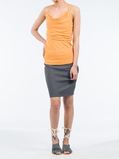 Keep your look simplistic yet modern with this Spaghetti strap blouse. Spring or summer will be the season to show off this piece. It has a straight cut , with ruffling detail along the neckline and spaghetti straps, and is a comfortable fit Straight Cut, Spaghetti Straps, Bermuda Shorts, Neckline, Detail, Blouse, Spring, Fitness, Modern