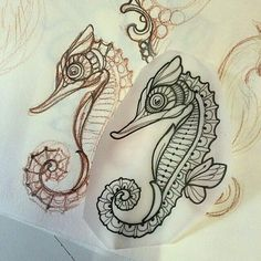 Miss Juliet Tattoos — Seahorse Ocean Tattoos, Mermaid Tattoos, Body Art Tattoos, Small Tattoos, Tatoos, Seashell Tattoos, Nautical Tattoos, Ship Tattoos, Arrow Tattoos