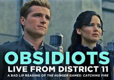 Bad Lip Reading has taken the movie Catching Fire & created this nonsensical masterpiece to make Hunger Games fans smile. Katniss & Peeta are OBSIDIOTS! Hunger Games Humor, Hunger Games Trilogy, Katniss And Peeta, Katniss Everdeen, Youtube Live, Catching Fire, Mockingjay, Funny Kids, Funny Farm