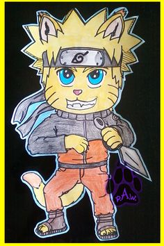 Giant Naruto Wall Cut-Out (Traditional) by PurpleAlphaWolf on DeviantArt