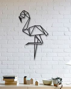 Flamingo Metal Tablo - Flamingo