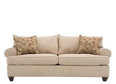 Like the city it's named after, this Vegas microfiber sofa in stone is a centerpiece for fun and luxurious living. You'll love gathering in your living room and relaxing on this sofa's soft microfiber fabric. Elegant roll arms, finely crafted bootheel feet and welting complete the sofa's clean look.