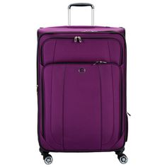 Delsey Helium Cruise 29-inch Expandable Spinner Suiter Upright... ($170) ❤ liked on Polyvore featuring bags and luggage