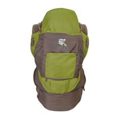 Onya Baby The Outback Baby Carrier (Olive Green/Chocolate Chip) turns into a seat for baby on almost any adult chair.