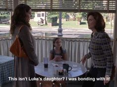 """Emily: """"this isn't Luke's daughter? I was bonding with it!"""