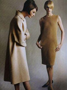 Linda Evangelista and Kristen McMenamy by Steven Meisel for Vogue, July 1995.