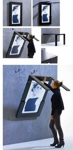 folding table that doubles as wall art