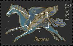 Cherry Wood ~ チェリーウッド: ♞ Monoceros & Pegasus ♘ Commemorative Stamps, First Day Covers, Pegasus, Postage Stamps, Constellations, Miniatures, Horses, Cherry, Wood