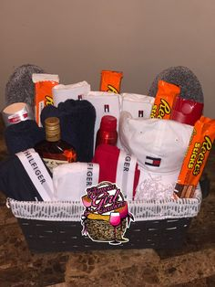 Image Of Large Tommy Hilfiger Basket Valentine Gift Baskets Valentines Day Boyfriend