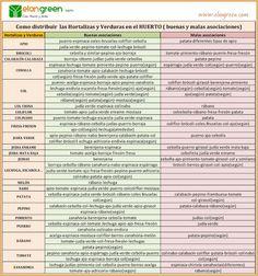 Asociación de cultivos en el huerto Buenas y malas asociaciones