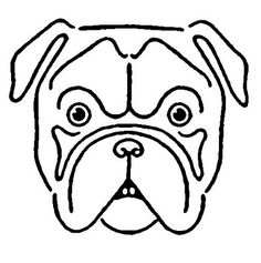 *The Graphics Fairy LLC*: Vintage Kids Printable - Draw a Bulldog Bulldog Drawing, White Bulldog, French Bulldog, Drawing Techniques, Drawing Tips, Sketching Tips, Drawing Ideas, Free Vector Illustration, Drawing For Beginners