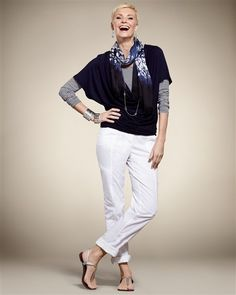 Love the layering in this Spring outfit from Chico's!