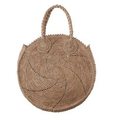 Shop for Zimmermann Circular Woven Tote at ShopStyle. Womens Designer Bags, Designer Bags Online, Online Bags, Crochet Tote, Crochet Handbags, Bead Crochet, Crochet Circles, Round Bag, Basket Bag