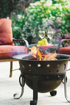 The Cast Iron Celestial Fire Bowl Creates Incredible Ambiance As The  Flickering Flames Bring The Cut