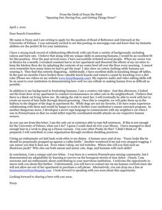 open cover letters cover letters from hired librarians - Vice Principal Cover Letter