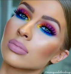 The eye colors are sooooo 80's! The lipstick looks like mortuary makeup! Ugh