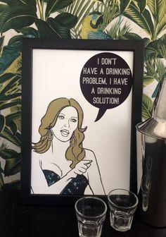 Drinking Solution- Real Housewives Brandi Glanville Illustration/Art Print by Katsillustration on Etsy