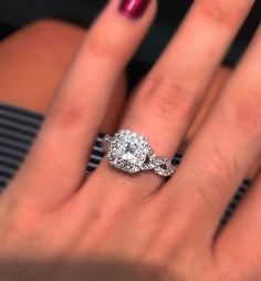 ZACH: This is the Vera Wang ring I'm in LOVE with!!!!!   Image result for Vera Wang LOVE Collection 1 CT. T.W. Princess-Cut Diamond Double Frame Twist Engagement Ring in 14K White Gold