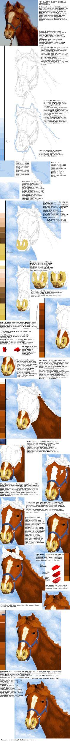 Horses: MS Paint tutorial by ludicrouslouisa.deviantart.com on @deviantART