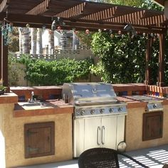 a Backyard Barbecue! DIY backyard BBQ grill - this may be our summer project.DIY backyard BBQ grill - this may be our summer project. Build Outdoor Kitchen, Outdoor Kitchen Countertops, Backyard Kitchen, Outdoor Kitchen Design, Backyard Patio, Outdoor Kitchens, Bbq Kitchen, Backyard Barbeque, Outdoor Grilling