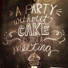 Cake chalk wall art