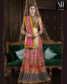 Lehenga de mariage indien coloré collection exclusive de #SoExclusive Robe Bollywood Indienne, un rêve qui peut être réalisé