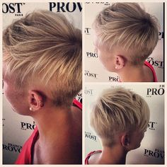 This is what I want the back to look like. undercut sides and back pixie. multiple views (via #undercut Instagram photos | Webstagram)